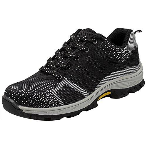 COOU Zapatos de Trabajo para Hombre Comodos deportvos s1 Zapatos de Seguridad  para Mujer Acero en ef1829948ba5