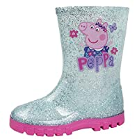 Girls Pink Peppa Pig Wellington Boots Blue / Pink 6