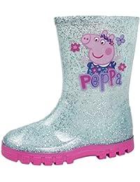 558377f9fdc Girls Pink Peppa Pig Wellington Boots Blue   Pink 7