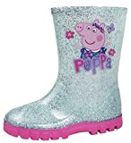 Peppa Pig filles Effet Glitter Bottes Wellington Welly (25)