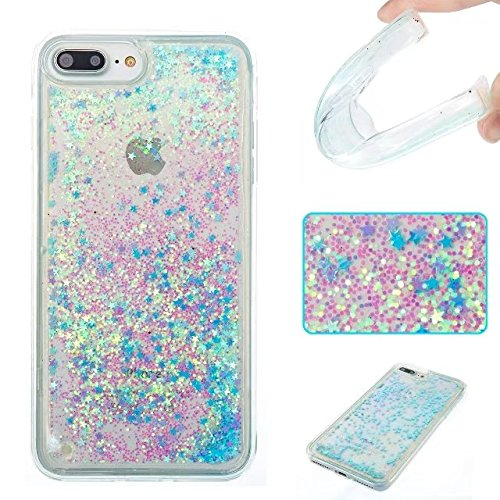 Coque iPhone 7, flottant Liquidee flottant de luxe Bling Glitter Sparkle Case Cover pour iPhone 7 4.7inch 2# 7 Plus