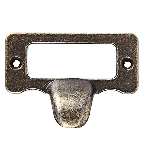Awakingdemi Schublade Label Zieht, Kommode mit 6Schubladen Schrank Label Pull Cabinet Rahmen Griff Datei Name Card Halter