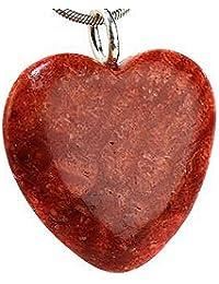 Korallenschmuck (Anhänger) Korallenanhänger Herz 925er Sterling-Silber