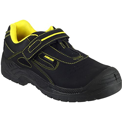 Amblers Safety Mens FS77 Leather Safety Trainers Black