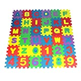 Tonwalk 36pcs Baby Number Alphabet Puzzle Foam Maths Educational Toy Gift 12*12cm/pc