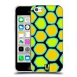 Head Case Designs Schlange Gelb Verrückte Drucke Soft Gel Hülle für Apple iPhone 5c