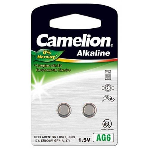 Camelion Knopfzelle AG6 2er Blister, Alkaline, 1,5V