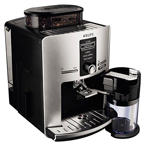 Krups Latt'Espress Quattro Force EA82FE Kaffeevollautomat (1450 Watt, 1,7 Liter, One-Touch Funktion, Milchbehälter, 15 bar) silber - 4