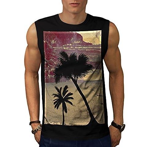 Summer Time Beach Men L Sleeveless T-shirt | Wellcoda