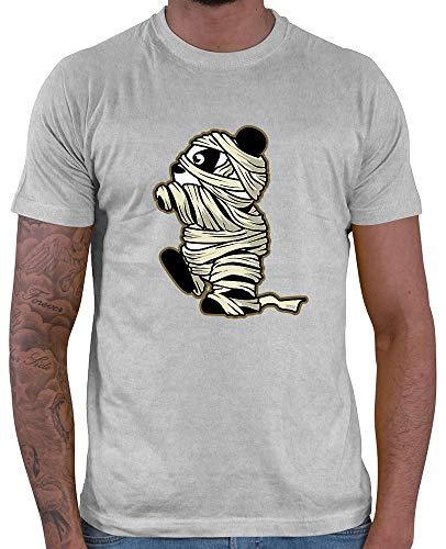 HARIZ  Herren T-Shirt Pandabär Mumie Halloween Kostüm -