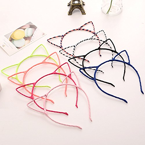 vinallo 8PCS Katze Ohr Headbands Hair Bands Hair Zubehör Wash Hot Face, Make-up-Haarband Party Werkzeug für Frauen und Mädchen (Frauen Für Katze Up Make Kostüm)