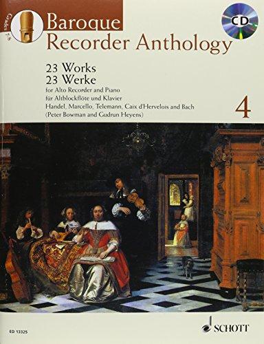 Baroque Recorder Anthology Volume 4 +CD (23 pièces) - Flûte à Bec Alto/Piano