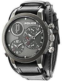 Police 14188JSU/61 - Reloj de pulsera hombre, piel, color negro