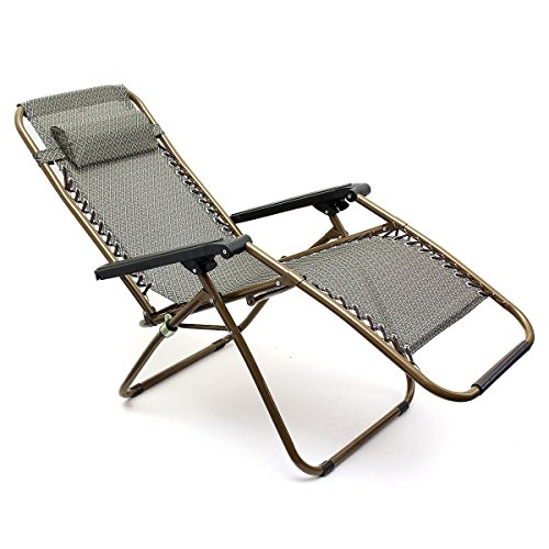 Generic NV 1001005765 _ Yc-uk2 Chairecl Chaise Longue de Jardin Oldin 2 x Neuf Gravity Gard inclinable inclinable Relax Unger Pliable Soleil ; Accoudoir Chaise 2 x Neuf