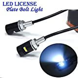 Fengh 12V Ampoules LED Lampes de plaque d'immatriculation Bolt Vis pour moto/Auto _ éclairage LED (blanc)