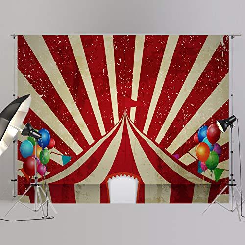 joypark Circus Zelt Foto Booth Hintergrund für Party Dekorationen Supplies Fotografie Rückseite Drop für Baby-Dusche Oder Geburtstag Bilder Vinyl Requisiten, D6437, 8x6ft(250x185cm)