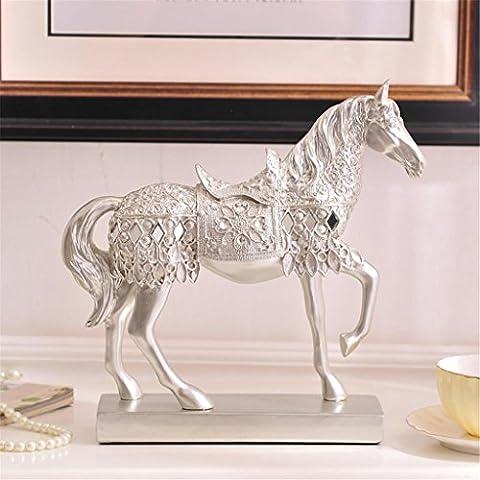Style européen Cheval Décoration Résine Accessoires pour la maison Salon à vin Cabinet Décorations Crafts Creative Meuble TV Animal Lucky Move New Home Cadeau