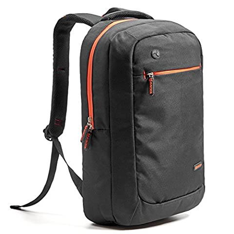 Evecase 15.6 inch Laptop Backpack, Lightweight Nylon Water Resistant Multipurpose Shoulder Notebook Bag for up to 15.6 Inch Acer, ASUS, Lenovo, Sony, Samsung, Dell, Toshiba, HP, Apple Notebooks, Tablets - Black