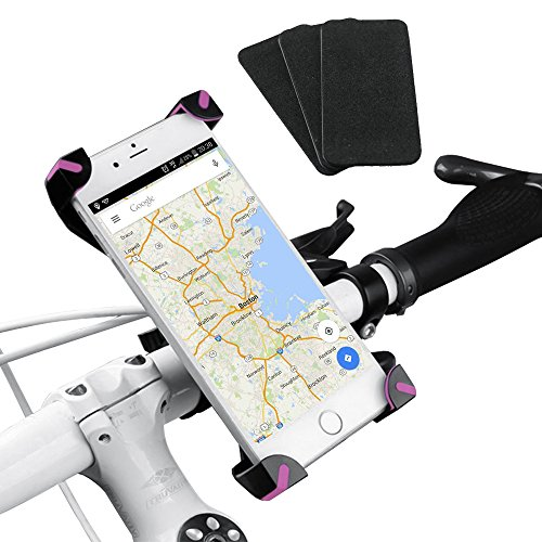 Bike Phone Mount, Beeway® Universal Bicycle Handlebar Mount Holder 360 Degrees Rotate Adjustable 3.5 to 7 inch for Iphone Samsung IOS Android Smartphone GPS