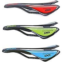 Full Selletas de fibra de carbono sillín para bicicleta de carretera de montaña ciclismo Asiento, rojo