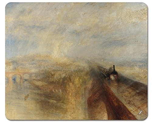 1art1 89267 Joseph William Turner - Regen, Dampf Und Geschwindigkeit, 1844 Mauspad 23 x 19 cm