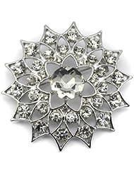 Elixir77UK Plateado Brillante Estrella Flor Para Novia Regalo Broche Con Liso Cristales VENDEDOR GB