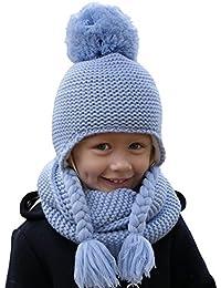 Hilltop 100% algodón  Conjunto de invierno para niños conjunto de bufanda  redonda y gorro f7537a19574