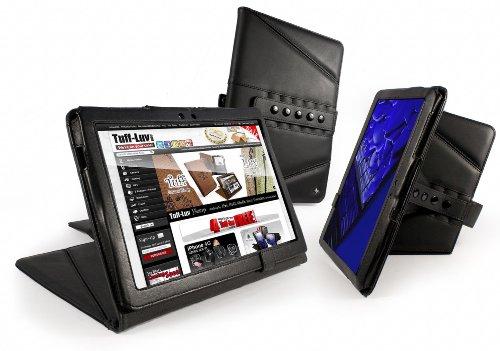 Tuff-Luv Tri-Axis Serie Schutzhülle für Samsung Galaxy Tablet 10.1(P7510und 7500Serie)–Schwarz (Tri-klappe)