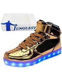 (Presente:pequeña toalla)Negro EU 39, de Altotop Hombres Flash Colors Carga Mujeres Zapatillas Luz Unisex Zapatos 7 Luminosas JUNGL