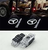Willkommens-Licht, KVCH 1 Paar LED-Höflichkeitsleuchten Einfache Installation Autotür Projektor Logo Ghost Shadow Lichter für Benz C (W203) 2001-2007/ CLK (W208,W209)2001-2009/ SLK (R171,R172) 2006-2015 SLR(C119) mit Türpolsterentferner