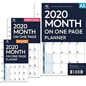 FILOFAX A5 organiser Compatible Insert Refill Monthly//Weekly//Dairy planner