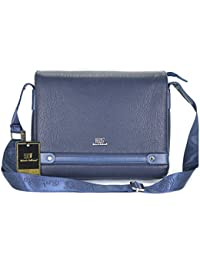 Roberto Ballmore Unisex Leatherette Shoulder Sling Bag / Messenger Bag Blue - B075HDK7KM
