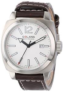 Golana Aero Pro Swiss made Aviators AE100.4 - Reloj de caballero de cuarzo, correa de piel color marrón de Golana