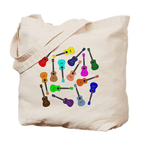 CafePress–Rainbow Ukulelen–Leinwand Natur Tasche, Reinigungstuch Einkaufstasche Tote S khaki