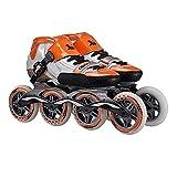 CamKpell SR1 Pattini Unisex Professionali per la velocità Pattini per Adulti Roller per Bambini Scarpe Uomo 90 / 100mm Scarpe da Corsa a Lunga Durata