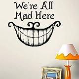 Bande Dessinée Diy Cheshire Chat Sourire Stickers Muraux Pour Enfants Chambres Stickers Muraux Décor À La Maison Salon Chambre