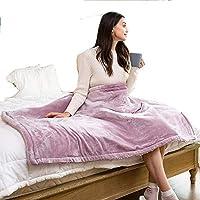 DZTIZI Electric Heated Throw Blanket - Super Soft Plush Home Kneepad Blanket -9 Gear Heating Adjustable Constant Temperature,Purple