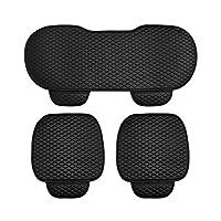 3 PCS/SET Universal Leather Car Seat Cover 2pcs Front Seat Covers and 1pcs Backseat Seat Cover