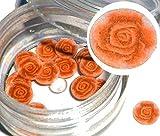 """1 lata para té con diseño depositantes Fimo/FIMO-SHAPES """" rosas: Colour NARANJA """" ... El marco de aluminio recubierto de lujo arte de uñas para sus dedos uñas!"""