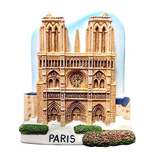 Kühlschrankmagnete Notre Dame De Paris Kühlschrank Aufkleber Innovative 3D Harz Kühlschrank Magnet Aufkleber Tourist Souvenir Craft Aufkleber Geschenk