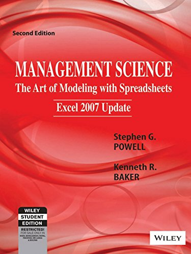 Management Science: The Art of Modeling with Spreadsheets, Excel 2007 update, 2ed Image