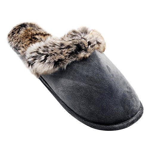 Familie Kostüm Ideen 7 (Alxcio Wildleder Hausschuhe Hüttenschuhe Unisex Slipper Herren Damen Schuhe Warm Gefuettert Pantoffeln für Mädchen Junge,)