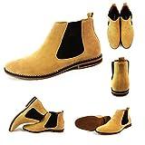 Herren Chelsea Boots, Wildleder, italienischer Stil, sportlich-elegant, Wildleder, camel, UK8 / EUR 42