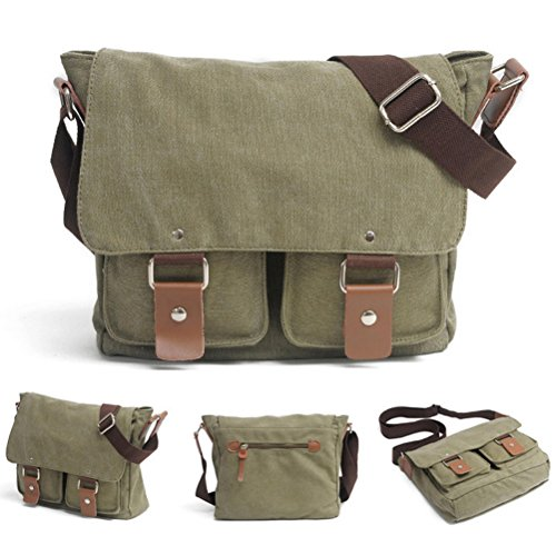 Zhhlaixing Borsa casuale Canvas Bags Male Female Messenger Shoulder Camera Micro SLR Bags for Niko Cano Army Green