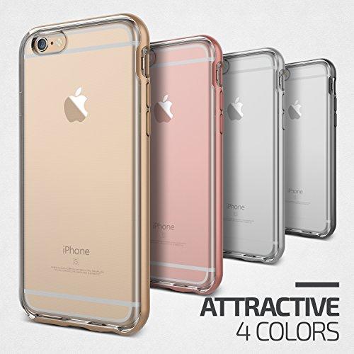 iPhone 6S Plus Hülle, VRS Design [Crystal Bumper Serie] Transparent Schlanke Hülle mit Militärischer Schutz für Apple iPhone 6 6S Plus 2015 - Satin Silber Schwarz Silber