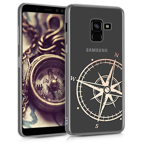 kwmobile Samsung Galaxy A8 (2018) Hülle - Handyhülle für Samsung Galaxy A8 (2018) - Handy Case in Rosegold Transparent