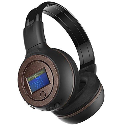 Tonsee 3.0 Stereo Bluetooth Wireless Kopfhörer mit Mikrofon/Sprechstellenmikrofon,Kaffee