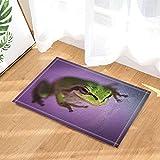 Safari Decor - Alfombrilla de baño para niños de 60 x 40 cm, diseño de Rana Silvestre, Color...