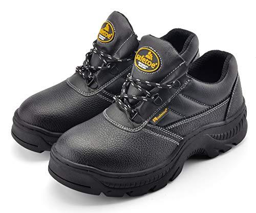 Zapatos de Seguridad para Hombres Antideslizante con Suela de Goma Zapatillas de Trabajo Cómodas L-7006...
