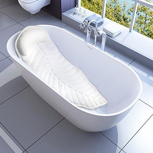 CoastaCloud Badewannenkissen mit Saugnäpfe Badewanne Nackenkissen Komfort Badewannenmatten mit Kissen Extra Lang
